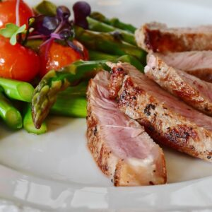 rose veal on a plate